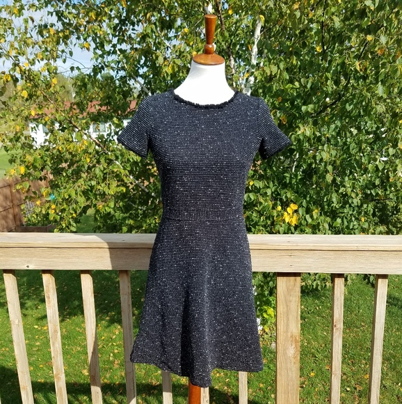 LOFT Dresses & Skirts - Loft Black Tweed Dress
